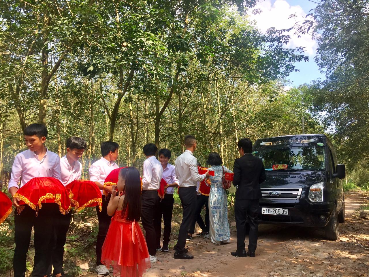xe 16 chỗ đám cưới