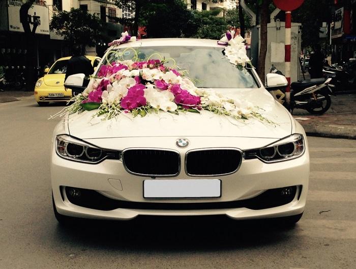 xe hoa ngày cưới đẹp