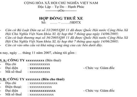 Noi Dung Thue Xe 7 Cho Hop Dong