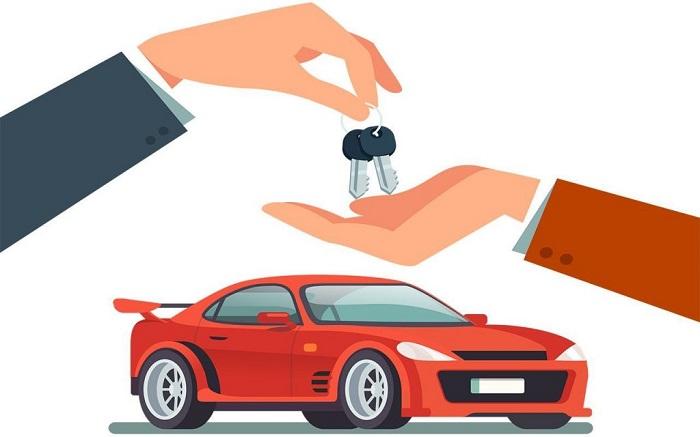Trao chìa khóa tận tay cho khách hàng với dịch vụ cho thuê xe không có tài xế